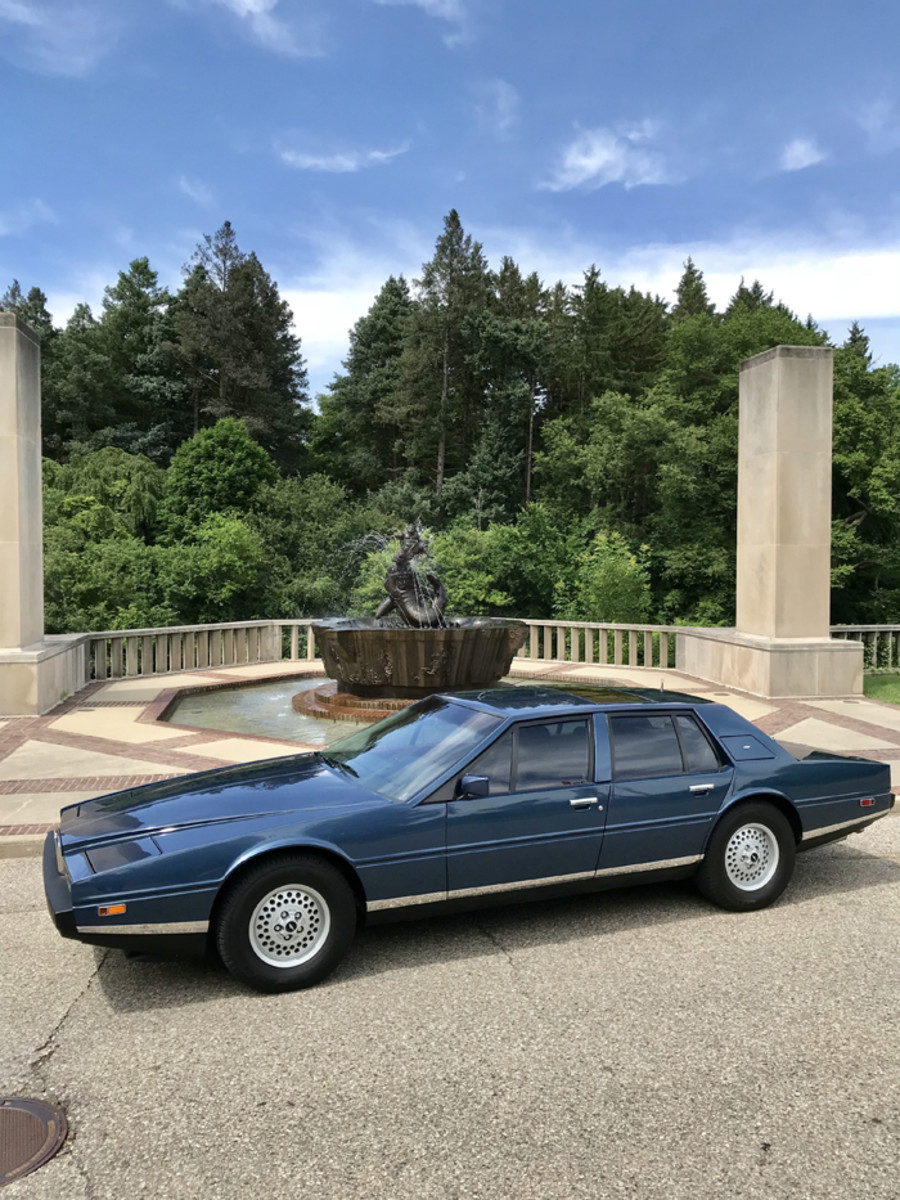 The Lagonda was a fancy, expensive, high-tech luxury saloon built by Astin Martin from 1974-1990. This is a 1984 model, which was part of Series 2. The 4.400-lb. Lagondas were powered by a 5.3-liter dual overhead-cam V-8 that produced 280 hp and could propel the car up to 140 mph. That type of performance, however, came at a price — the Lagondas were notorious gas guzzlers.