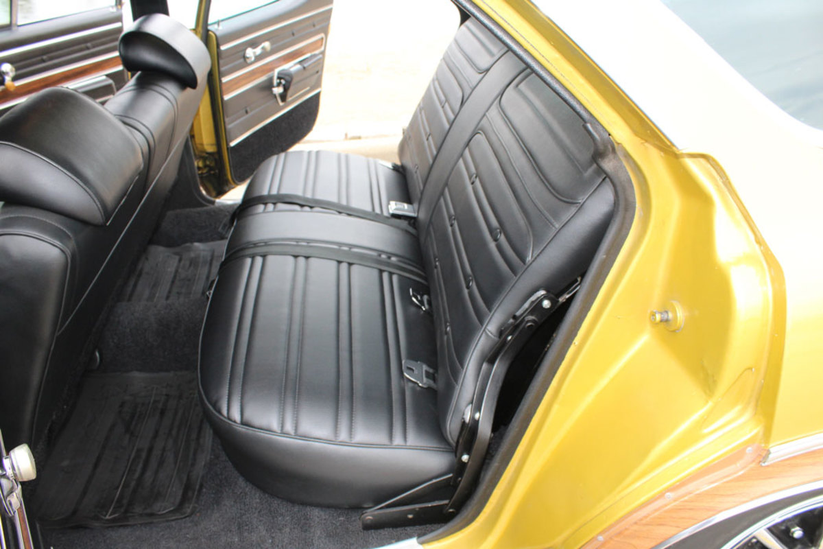 """A look a the black interior and the unique """"Vista"""" pattern."""