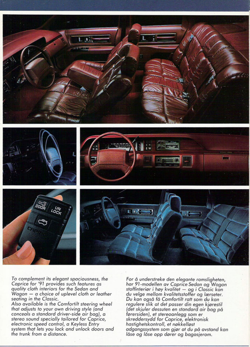 Chevrolet advertised luxury in 1991