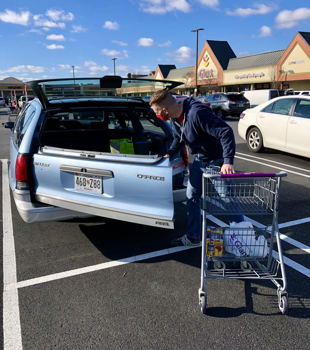 Owner Chris France makes use of the tailgate when loading groceries.