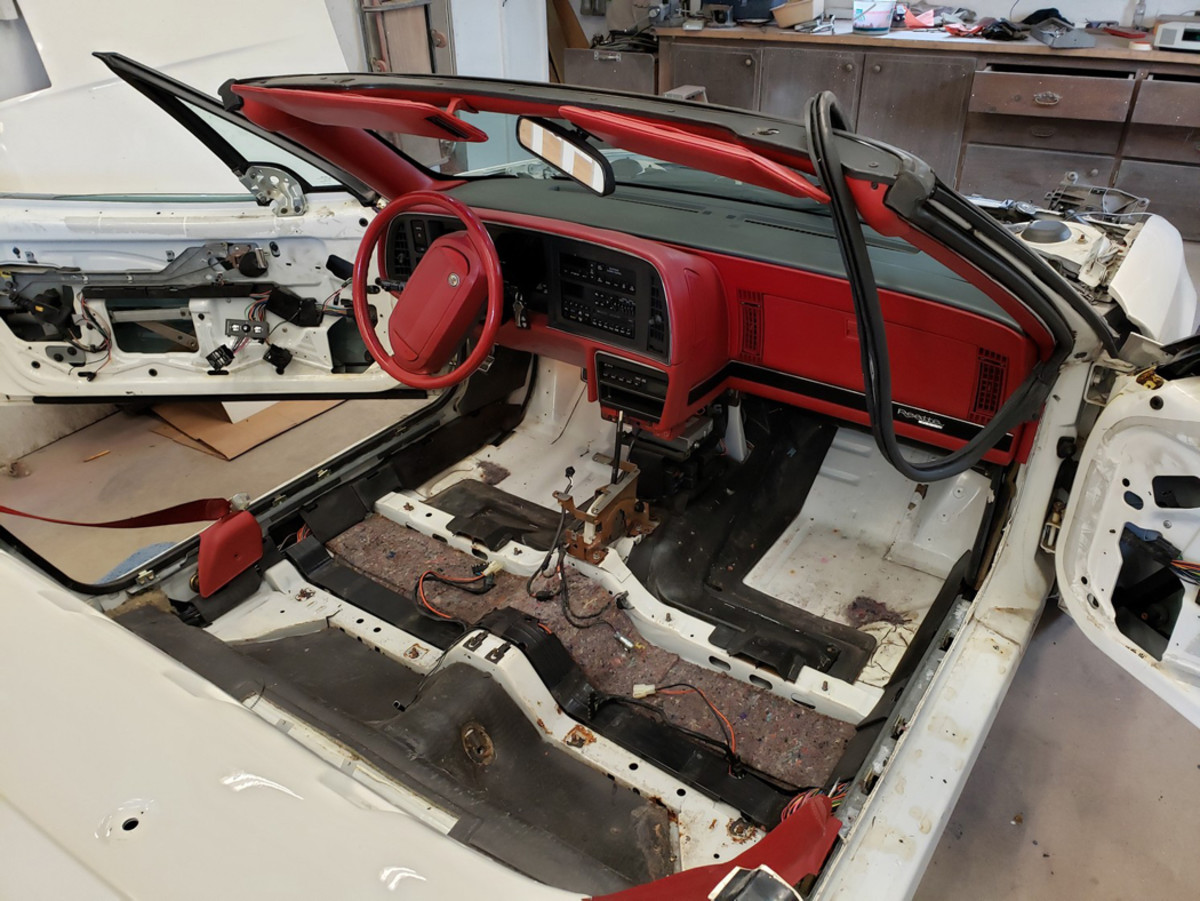 To do it correctly the interior had to be stripped to the basics and the carpet treated to a new dye job.
