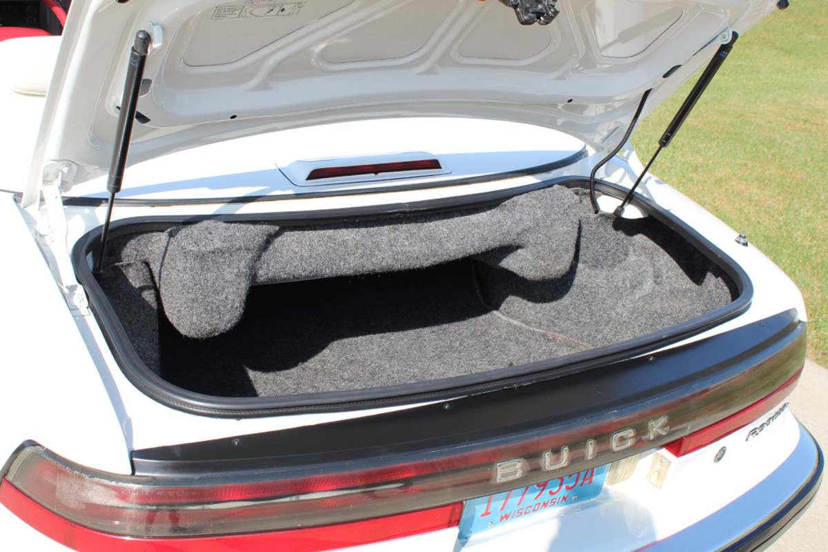 A look at the trunk/convertible top area