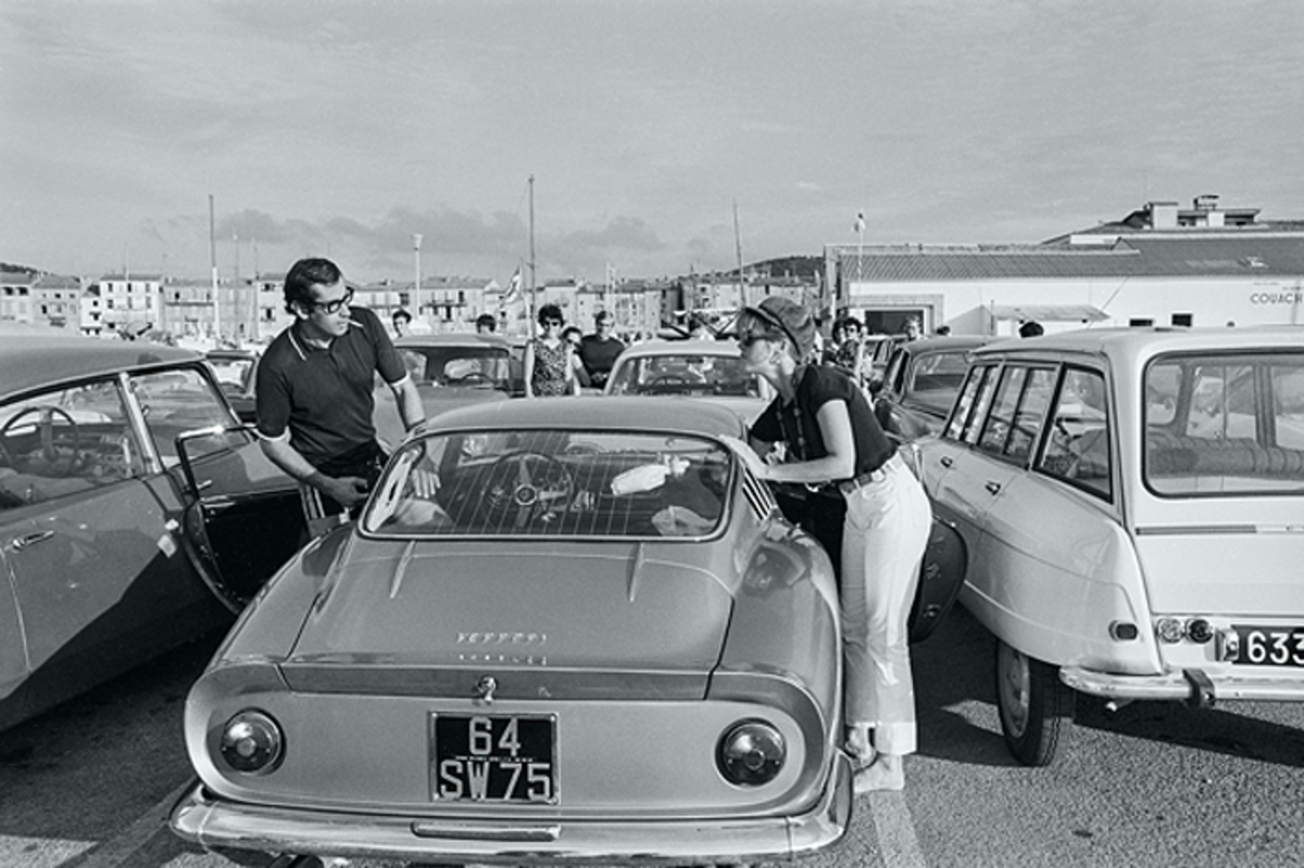 Roger Vadim and Jane Fonda pictured with their 275 GTB in Saint-Tropez in August of 1966.