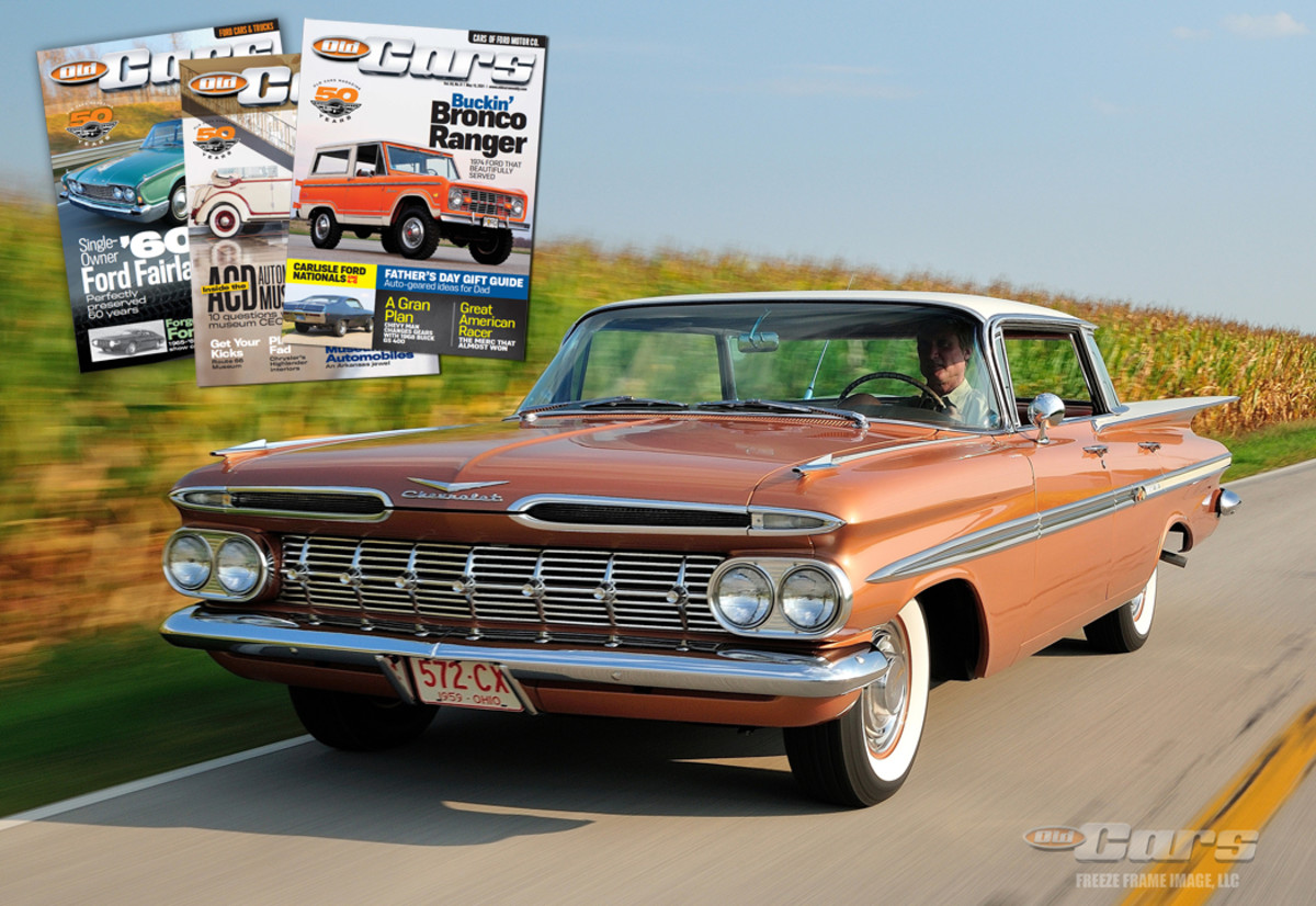 1959 Chevy Impala In Motion Gift Guide Market 1