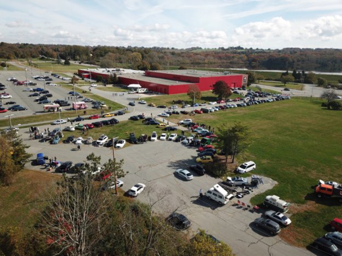 """The Newport Car Museum's iconic """"Big Red Building"""" is hard to miss on West Main Road near Newport, R.I."""