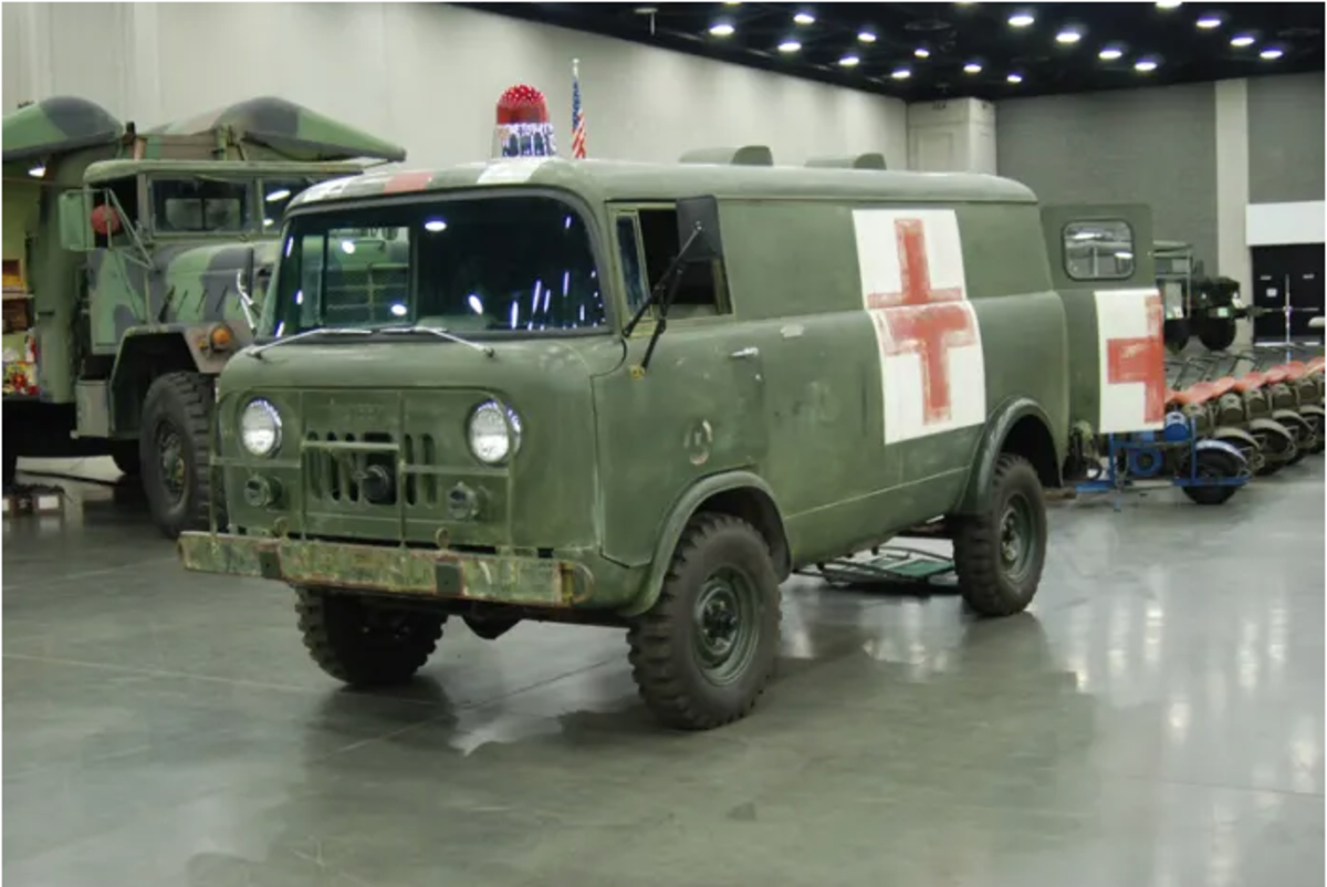 1965 M679 ambulance owned by Terry Dow.