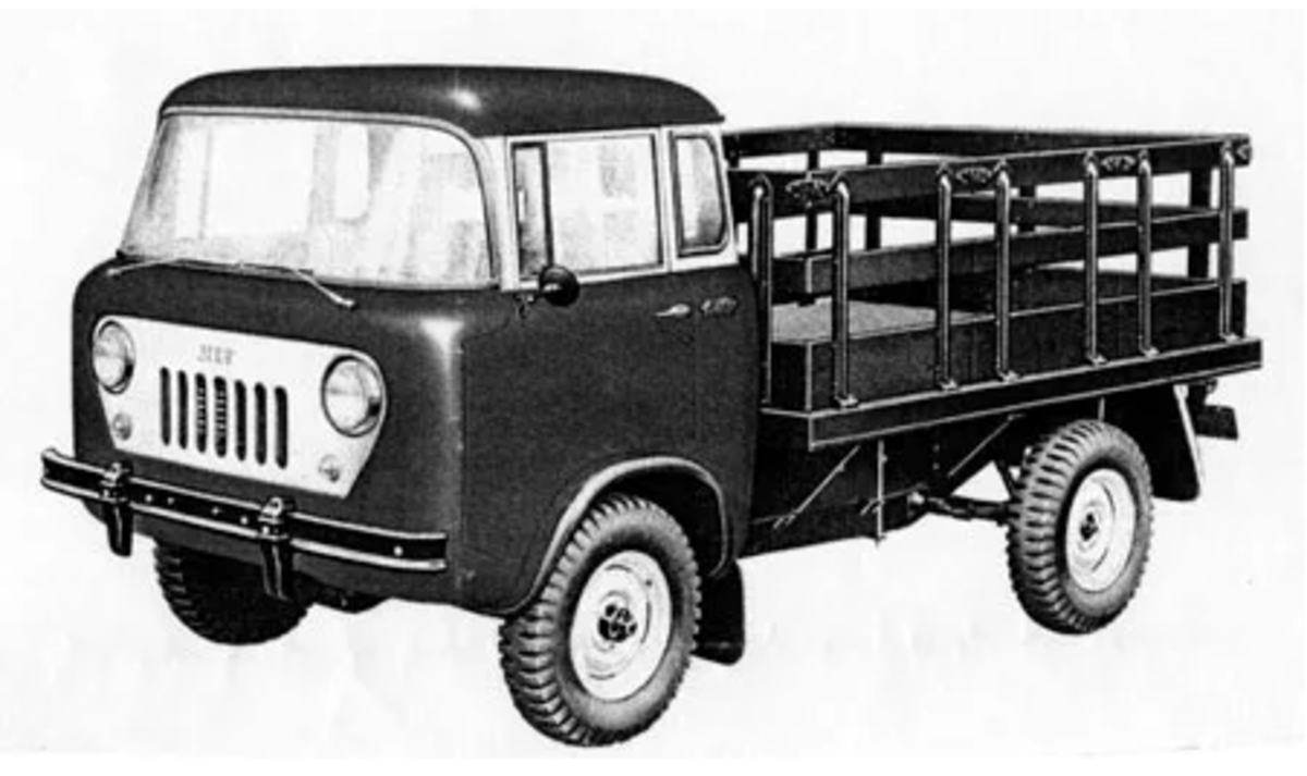 Willys offered the FC-150 in several models including a stake-bed version.