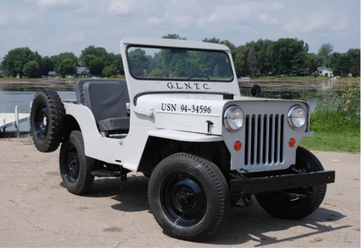 The taller F-head engine required Willys to raise the the cowl and hood on the CJ3B as seen on Frank Votava's Jeep.
