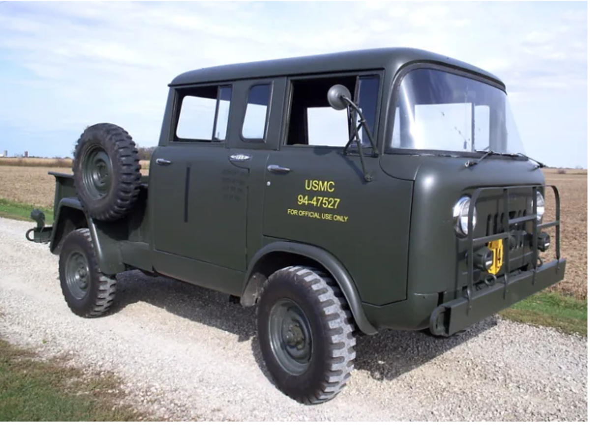 """The M677 (Type II) was a four-door crew cab pickup with the same 103"""" wheelbase as the M676. The front axle on the M-series FCs was the Spicer model 44-F (4.89:1) 3500-lb. capacity full floater. The rear was the Spicer model 53 (4.88:1) 4500-lb. capacity semi-floater. Both were available as Powr-Lok (limited slip) axles."""