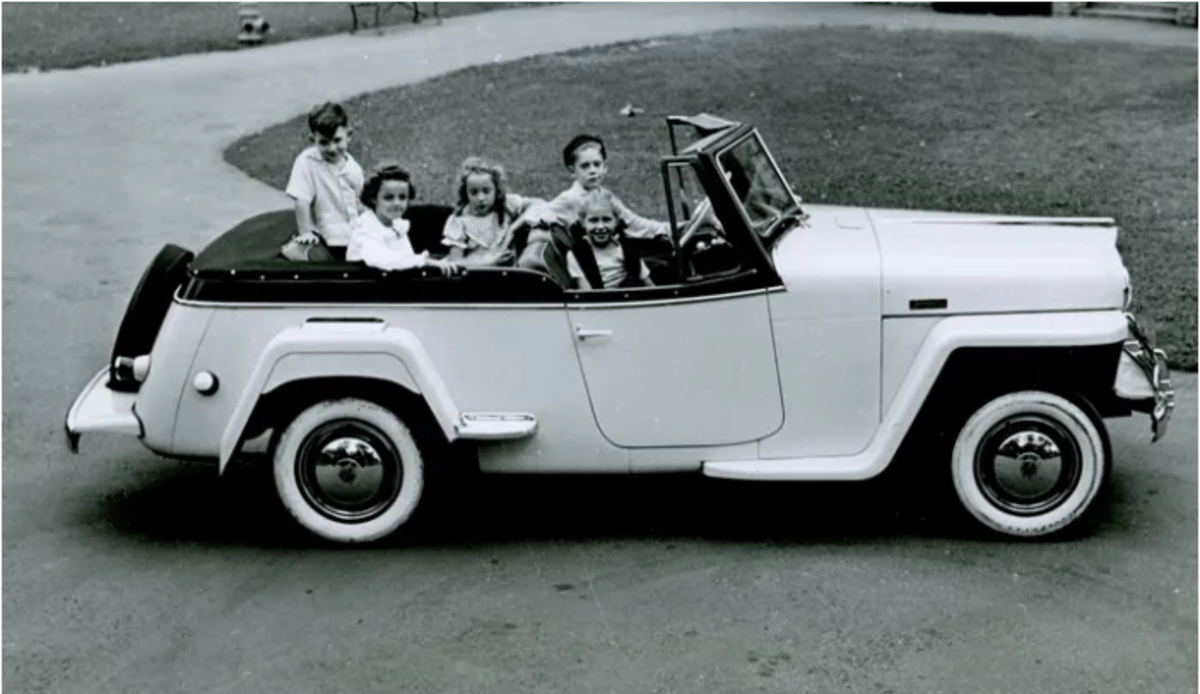 """Willys-Overland produced the Jeepster from 1948 to 1950. It was developed in hopes of filling a gap in the company's product line, crossing over from their """"utilitarian"""" proto SUVs and trucks to the passenger automobile market."""