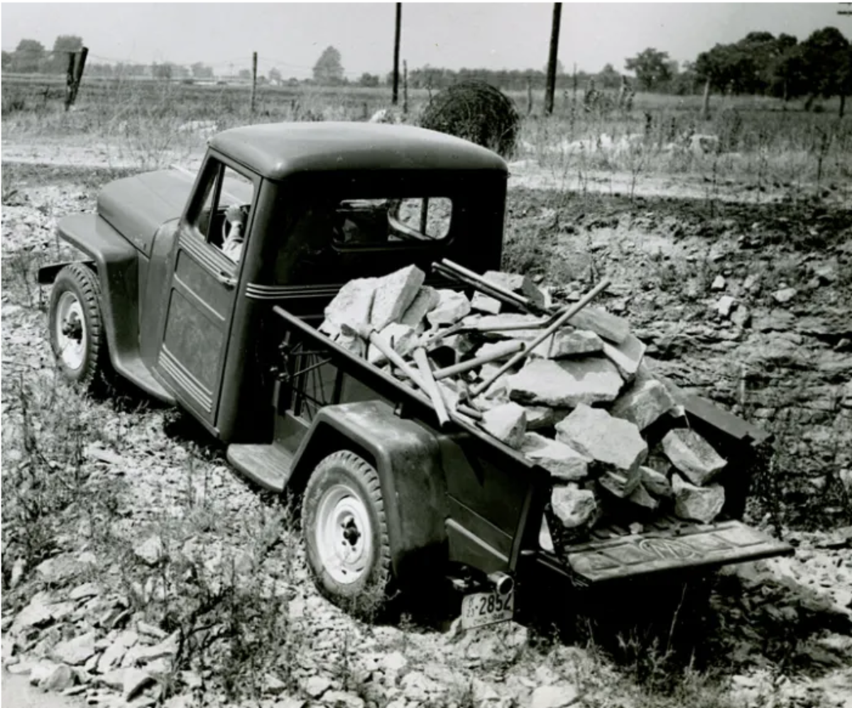 The Willys pickups attracted a small but relatively substantial following among folks who lived in rural areas.