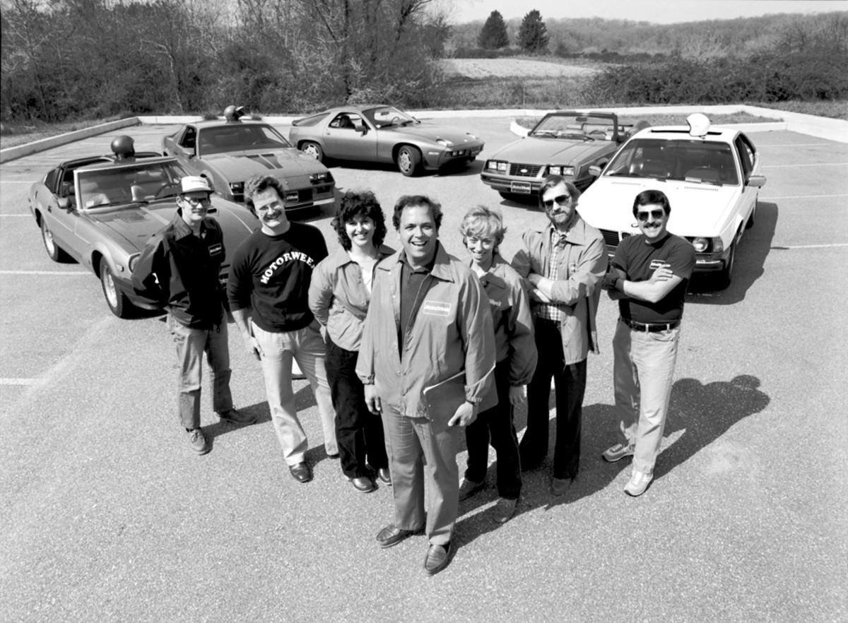 MotorWeek crew circa 1982