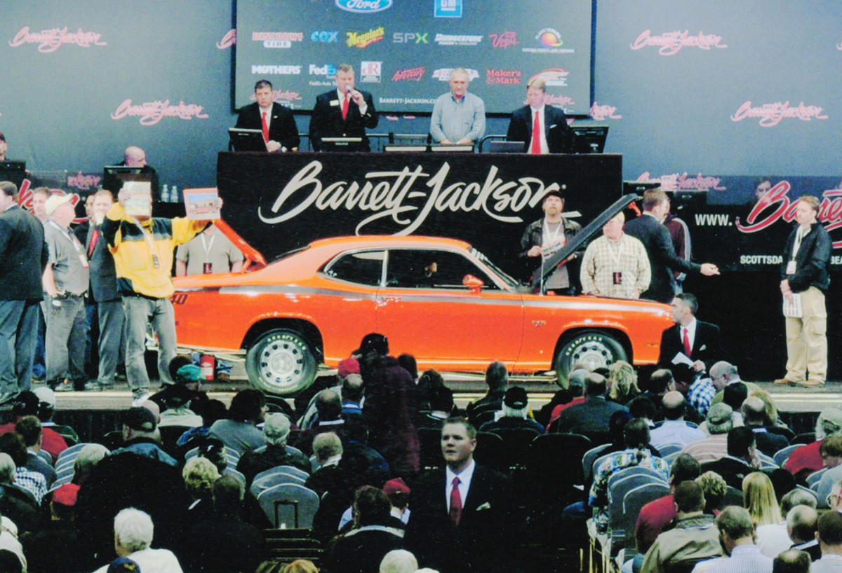 This Duster crossed the block not once, but twice under Barrett-Jackson's hammer.
