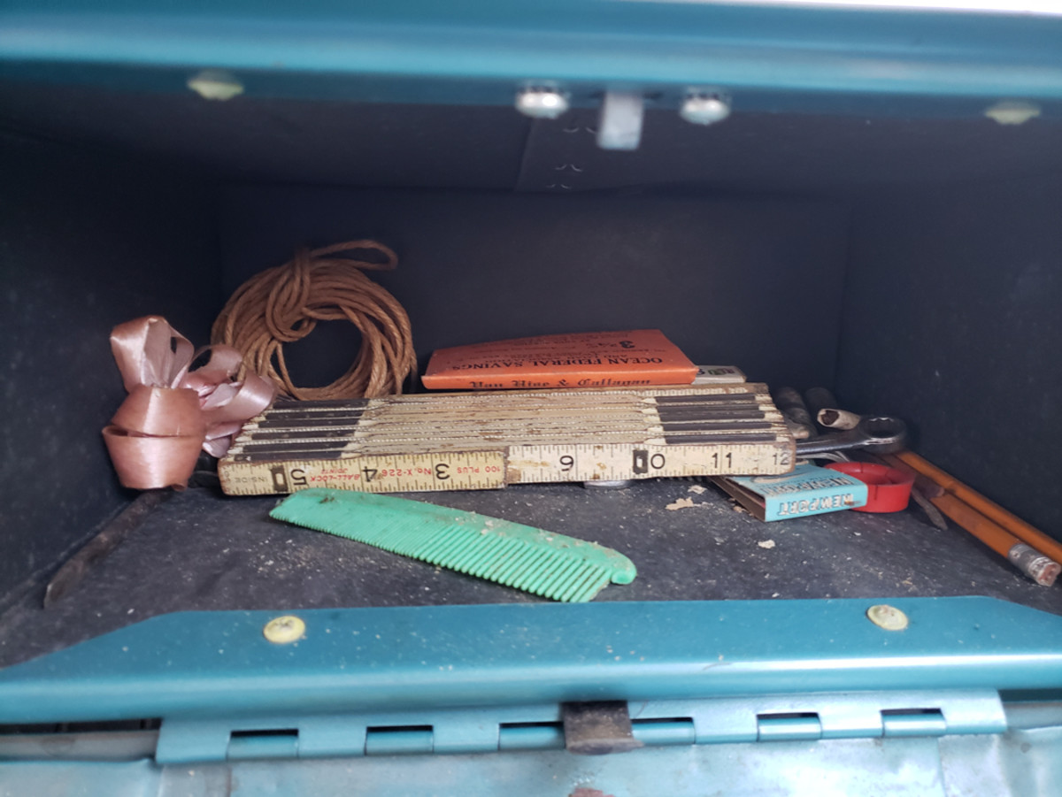 The glove box even held treasures of days gone by.