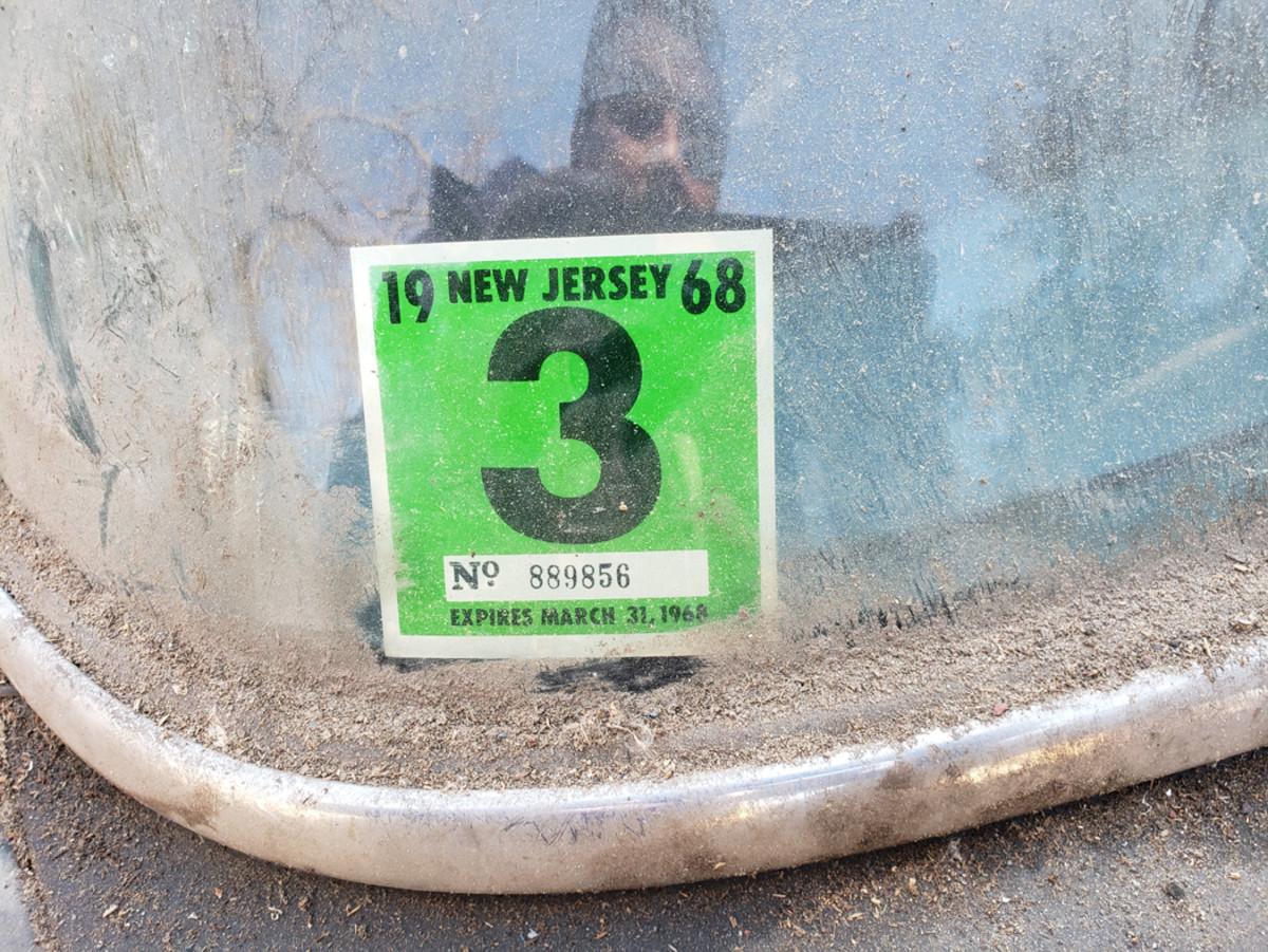 1968 registration sticker