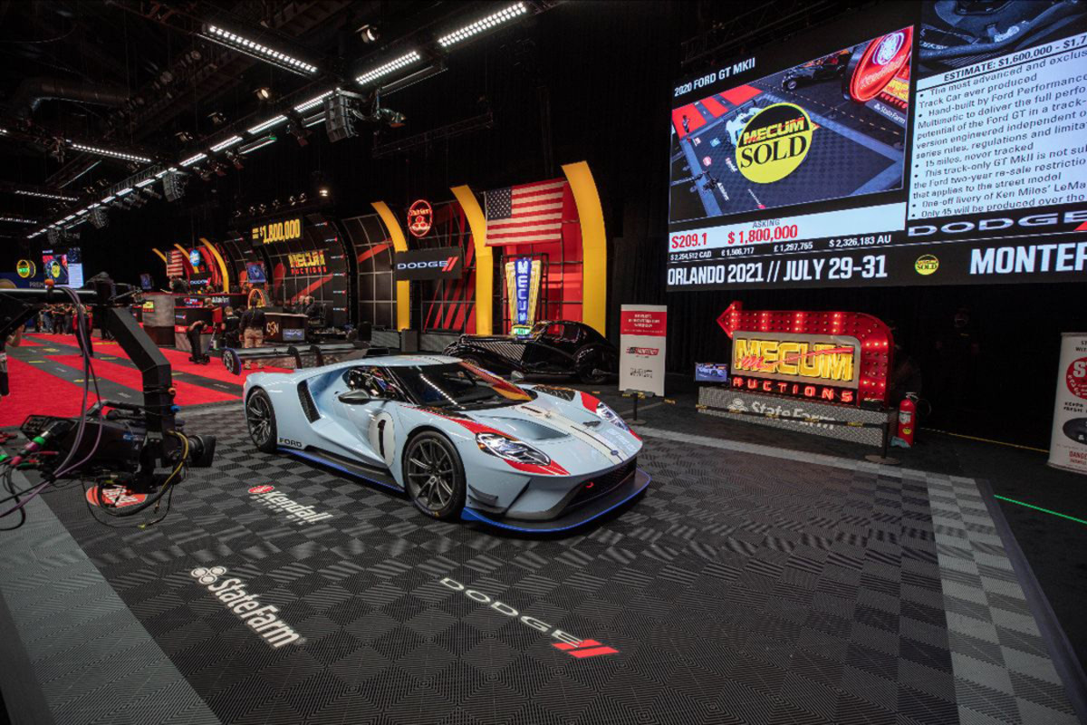 2020 Ford GT MkII sold at $1,870,000