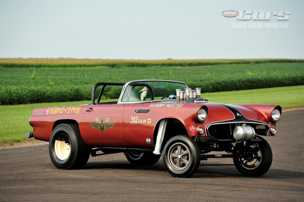 Lettering, wheels and stance are pure '60s gasser.