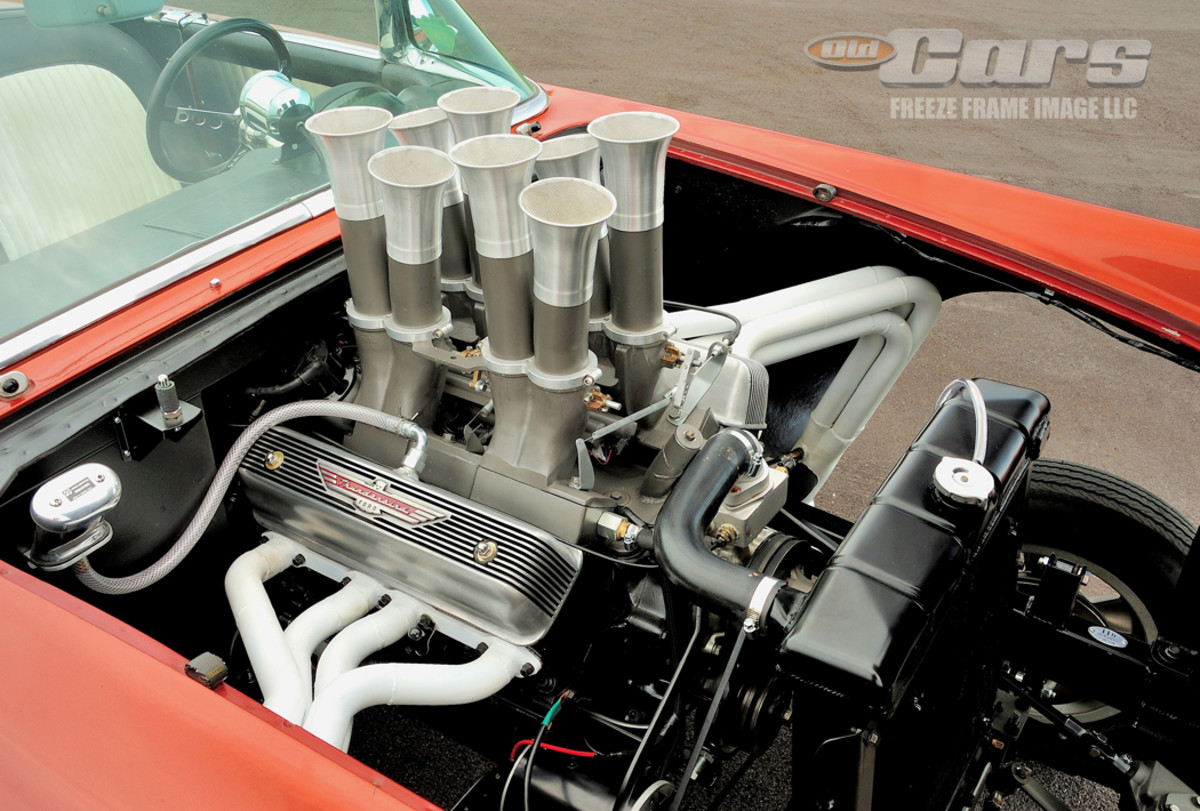 Power comes from a one-of-a-kind Hilborn fuel-injected 312-cid V-8