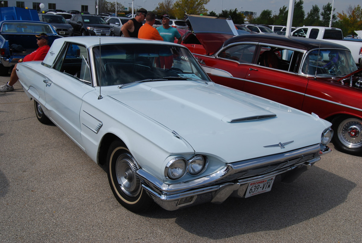 George Netzel brought his '65 T-Bird to the Make-A-Wish car show in Milwaukee, Wis.