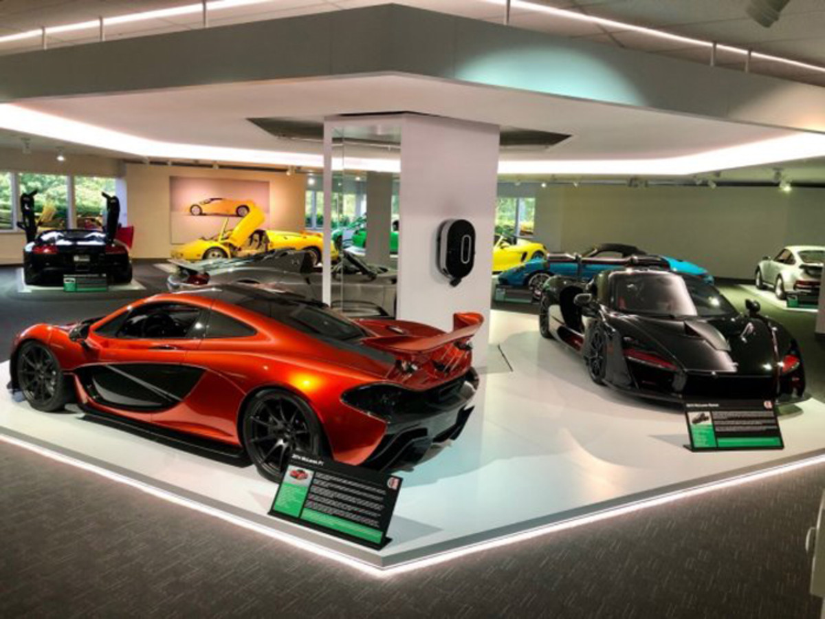 2014 McLaren P1 and a 2019 McLaren Senna take center stage in theWorld Car gallery.