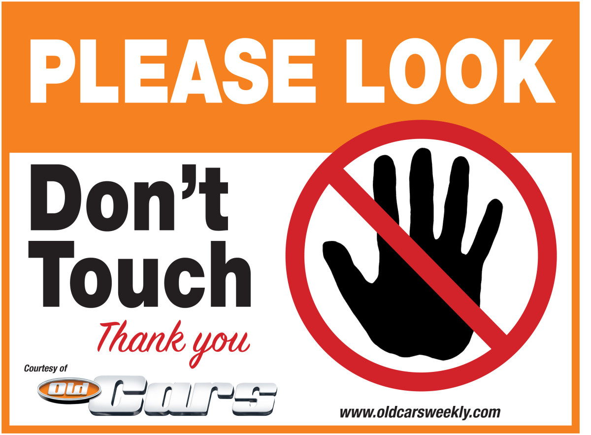 Don't Touch Sign