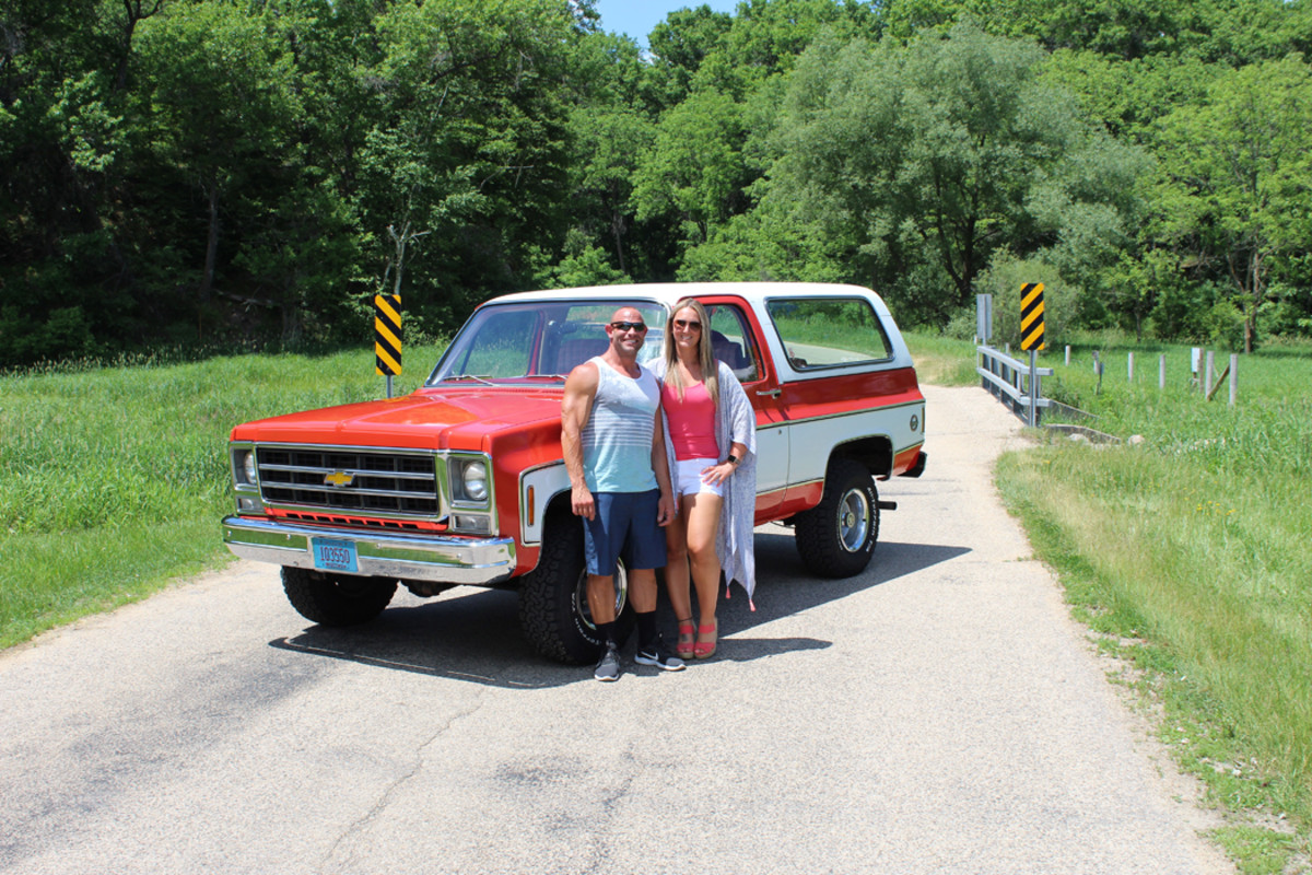 """The Andersons and their """"Chevy"""" that lives amongst the MoPars."""