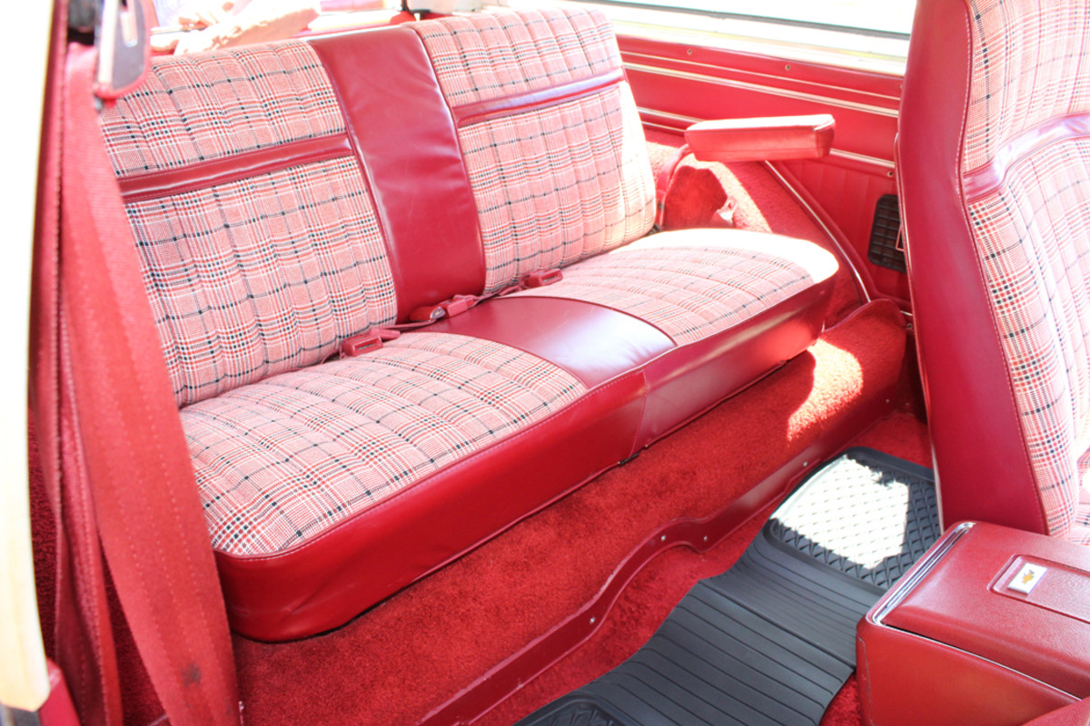The interior of the Blazer is even more pristine than the exterior — the original owner isn't even sure if anybody ever sat in the back seat.