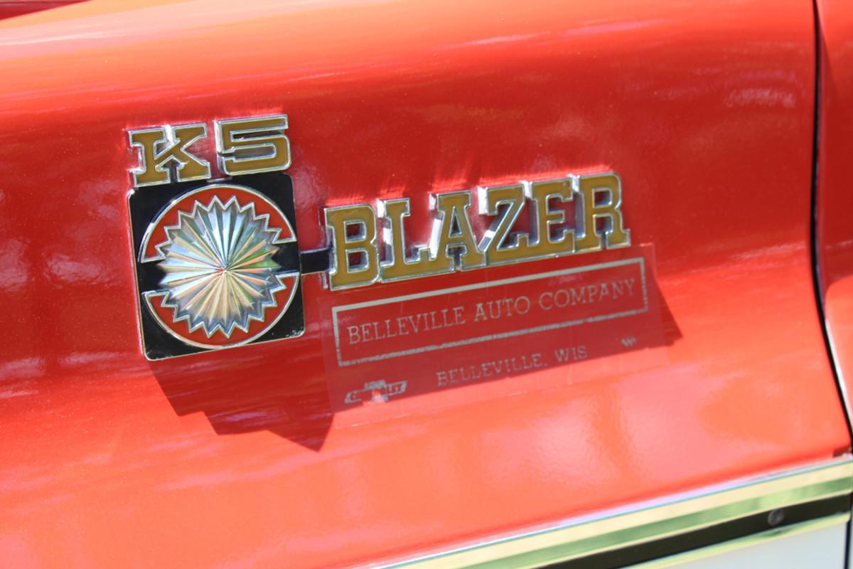 The K5 Blazer was originally sold in Belleville, Wis.