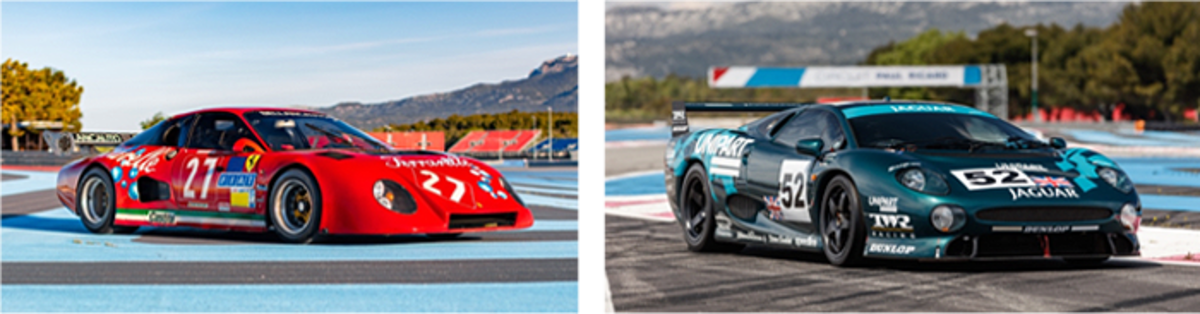 LEFT: 1981 Ferrari 512 BB/LM; RIGHT: 1993 Jaguar XJ220 C LM