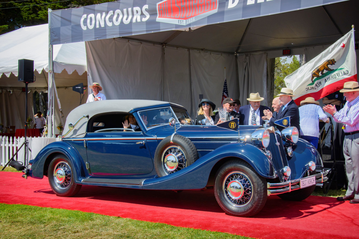 """1937 Horch 853 Sport Cabriolet earned """"Best of Show"""""""