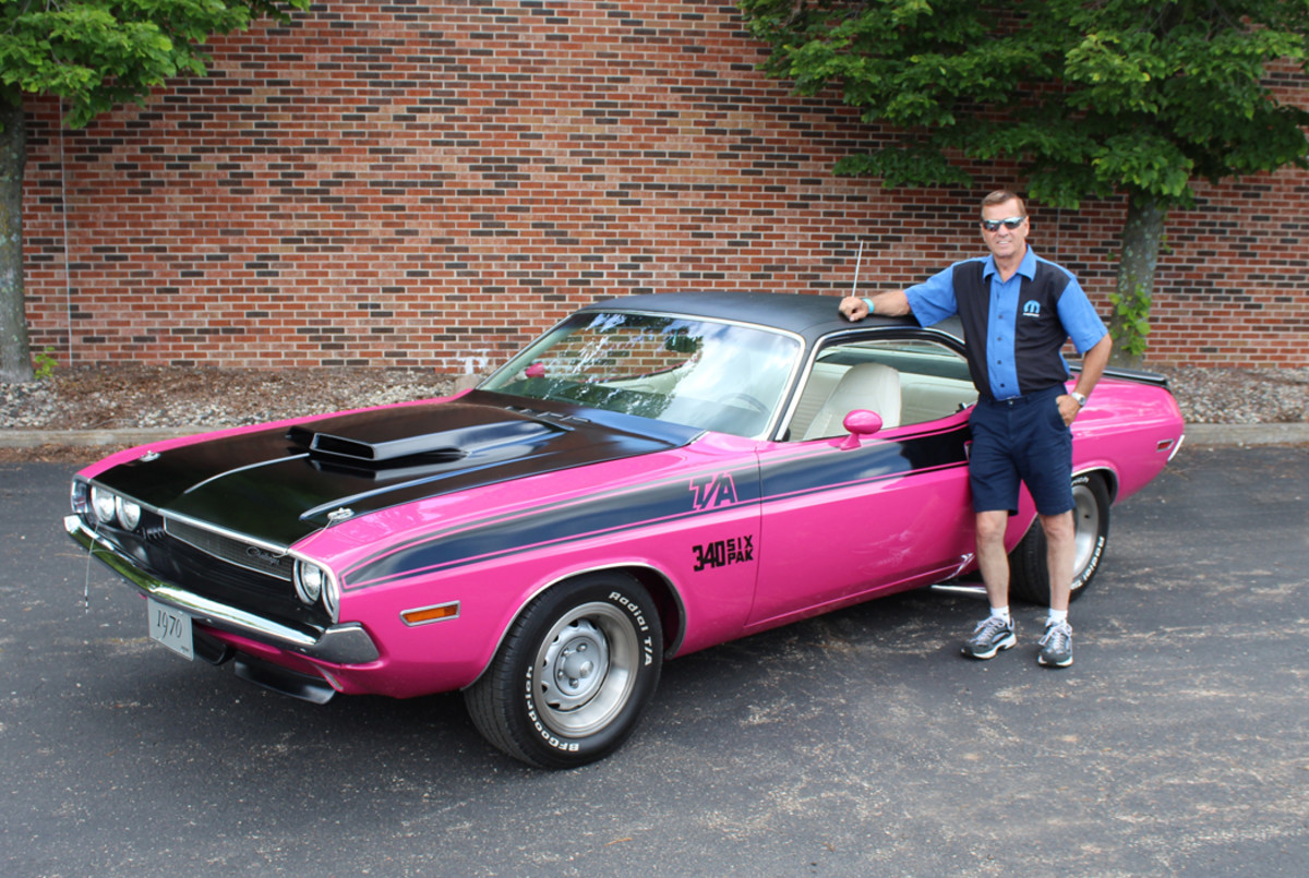 Tom Wangerin with his Challenger T/A