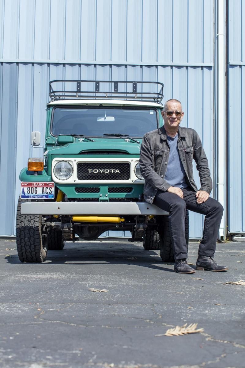Hanks with his 1980 Toyota FJ40 Land Cruiser Hardtop