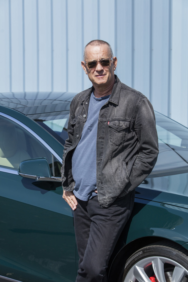 Hanks aside his 2015 Tesla Model S P85D