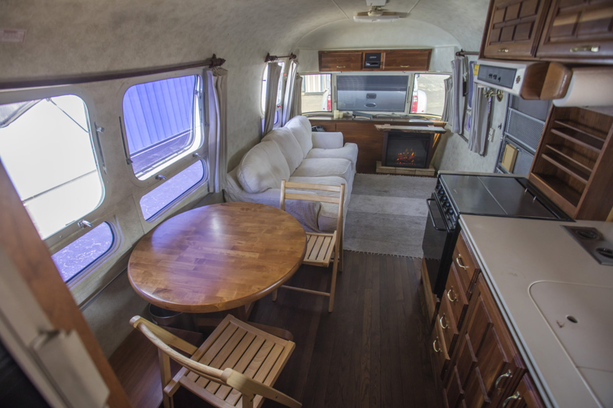 The Hanks furnished Airstream