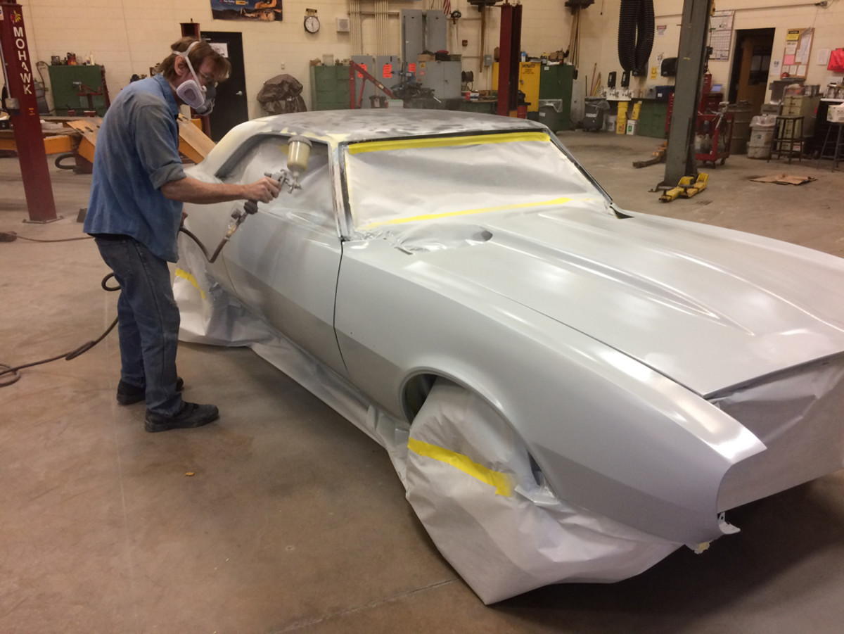 More than 40 students worked on the Camaro.