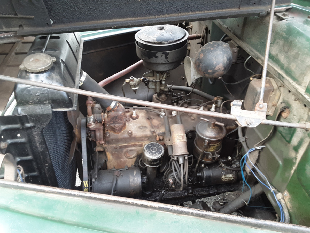 The inline, L-head six-cylinder displaces 217 cubic inches good for 95 hp and the truck's power to weight ratio is surprisingly good.