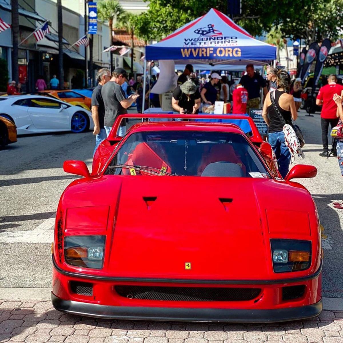 Ferrari F40_on display during Exotics on Las Olas