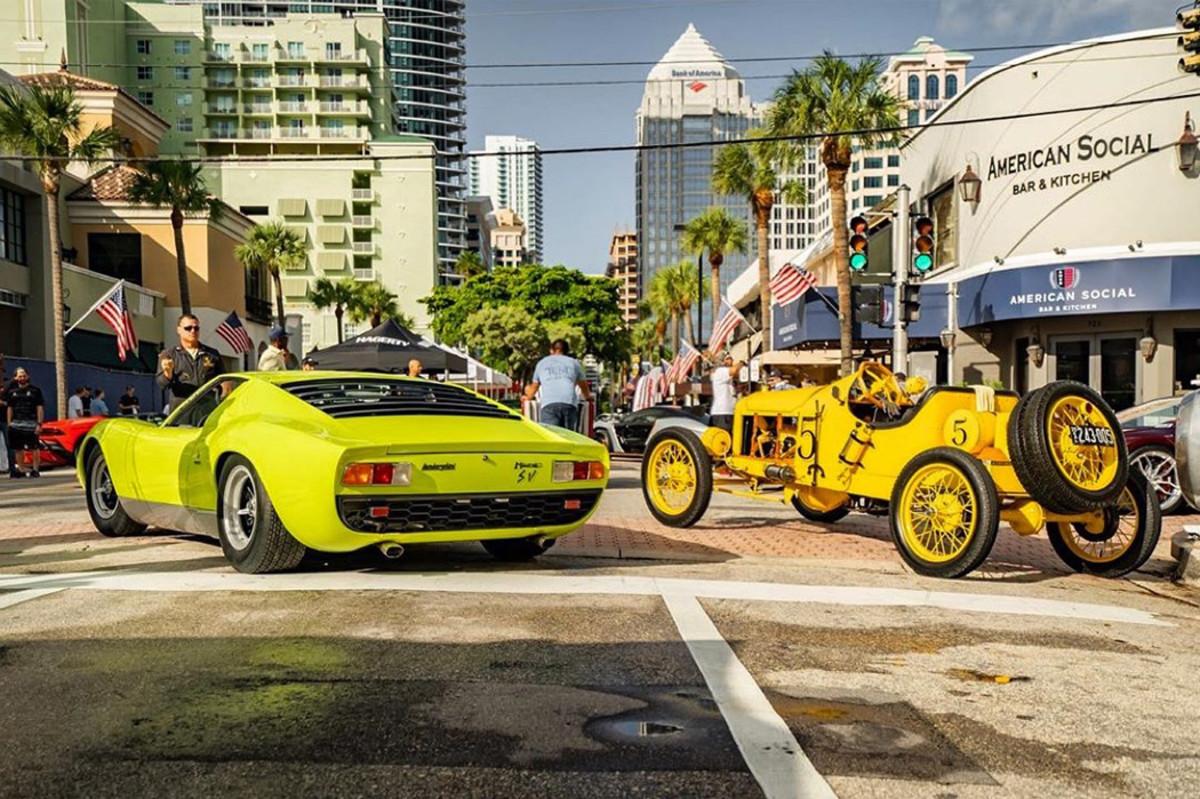 Lamborghini Miura and Classic Race Car