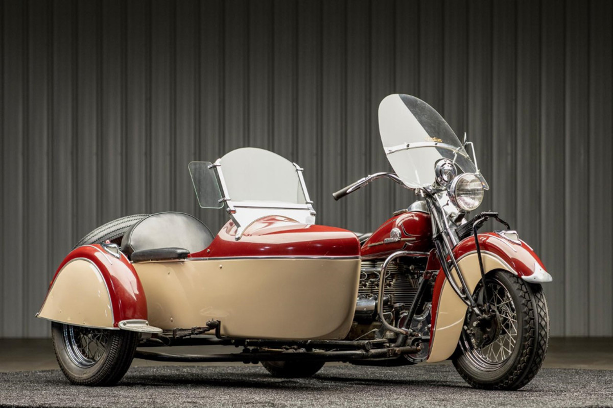 1942 Indian Four with Side Car